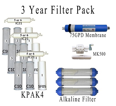 Value Pack- Entire 3 Years of Replacement Filters Bundle K6ALK