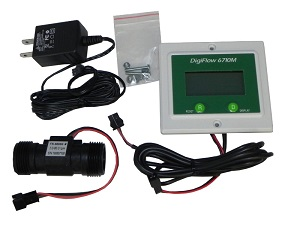 "Panel 3/4"" 6710M-66TM Digital Flow Meter count up GPM 115V"