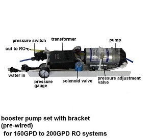773, Booster Pump Assembly Large 150-200GPD RO systems (pre-wire