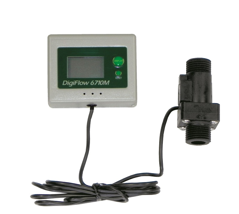 "1/2"" NPT Digiflow Digital Flow Meter count up total Water Gallon"