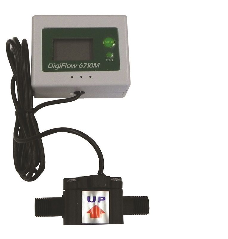 "1/4"" NPT Digital Flow Meter count up total Water Gallons"