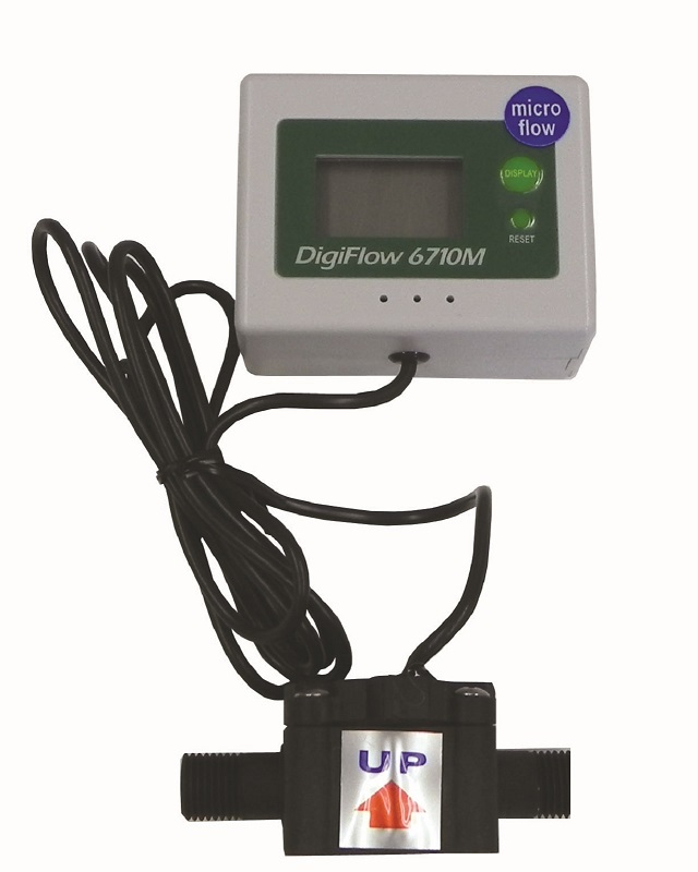 Micro 1/4 NPT Digital Flow Meter count up total Water Liter LPM