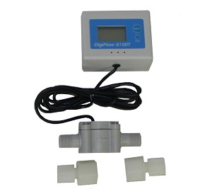 "FM-8100T, DigiFlow Digital Water Flow Rate Meter 56"" cable"