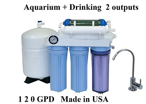 .AR125 Dual Outputs Aquarium & Home Drinking RO Filter System