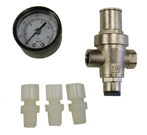 CPR-150G, Pressure Regulator with Pressure Gauge  (0-125 psi)