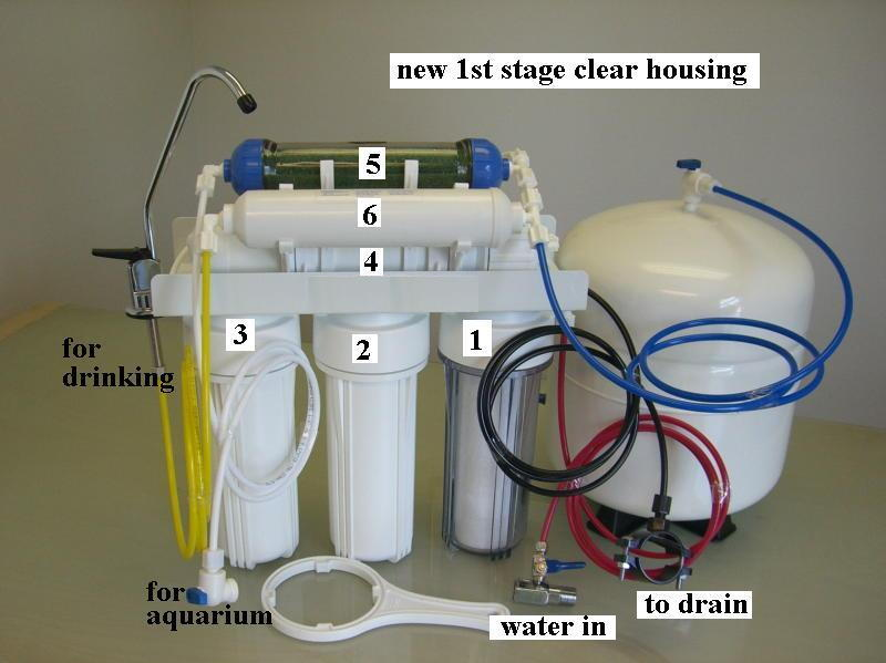 REEF U0026 HOME DRINKING RO+DI Dual Output REVERSE OSMOSIS PURE WATER FILTER  SYSTEM | EBay